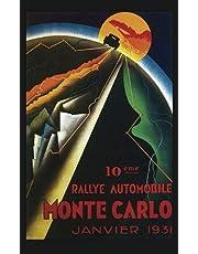 Art Deco Blank Travel Journal: Monte Carlo Rally 1931