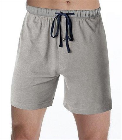 Hanes 01005-010052X Mens Jersey Lounge Drawstring Shorts With Logo Waistband Size Small, Active Grey Heather & Black, Pack 2 by Hanes (Image #1)