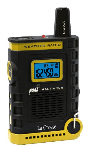 La Crosse 810-805 NOAA/AM/FM Weather RED Alert Super Sport Radio with Flashlight