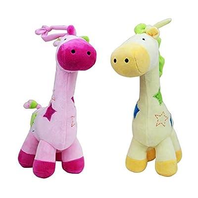 Xtavia Soft Plush Musical Giraffe 11 inch , Pull String, Cuddly Toy (Yellow): Toys & Games