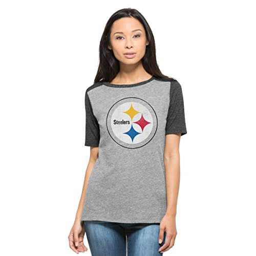- '47 NFL Pittsburgh Steelers Women's Empire Tee, Small, Vintage Grey