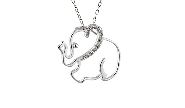 Sterling Silver Womens 1mm Box Chain 3D African Or Indian Elephant Pendant Necklace
