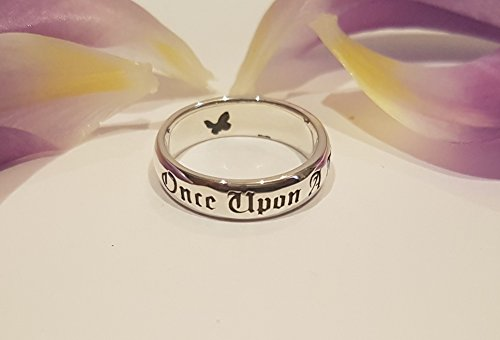 Personalized Disney Jewelry - Once Upon A Time Ring, Fairy Tale Ring, Butterfly Ring, Disney Princess, Personalized Ring, Handmade, Custom Jewelry, Book Jewelry