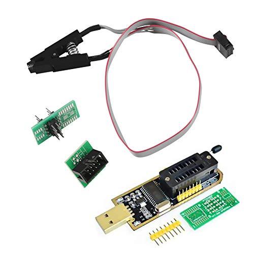 (AiTrip SOIC8 SOP8 Test Clip For EEPROM 93CXX / 25CXX / 24CXX + CH341A 24 25 Series EEPROM Flash BIOS USB Programmer Module)
