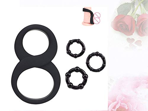 Super Elastic Soft Silicone Ring for You (Set of 4)