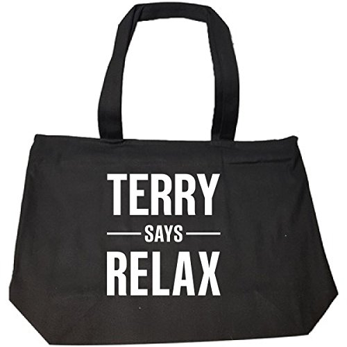 Terry Says Relax Personalised Gift For Name - Tote Bag With Zip