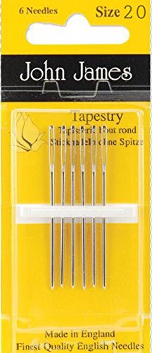6 Needles Each Pack Tapestry Needles 20 /& 22 Bundle: Sizes 18