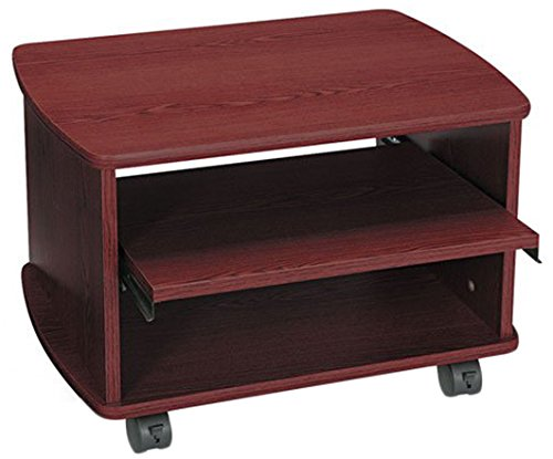 Safco Products 1954MH Picco Duo Printer/Fax Machine Stand, Mahogany (Wood End Table Safco)