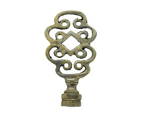 Upgradelights Vintage Art Deco Life Knot Symbol Lamp Finial (Antique Brass)