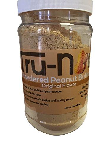 Tru-Nut Powdered Peanut Butter (38 Servings, 16 oz Jar) Good Source of Plant Protein - Gluten Free, Non-GMO, Vegan - Original Flavor