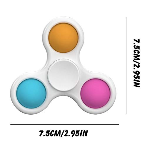 WUSSCO Mini Simple Dimple Sensory Fidget Toy Stress Relief Anti-Anxiety Autism Hand Toys for Kids Teen Adult, Push Pop Bubble Keychain Sensory Therapy Toys for Home Classroom (Blue/Pink/Yellow)