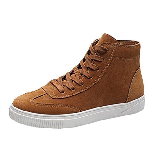 CHENGYANG Herren Warm Gefüttert Winter Stiefel Schnür Boots Schneestiefel Outdoor Freizeit Schuhe Khaki#26