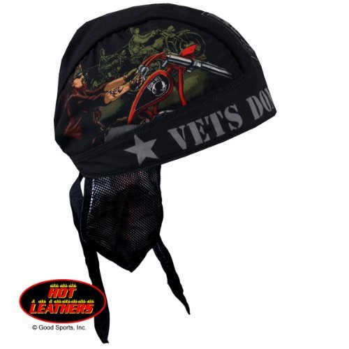 Authentic Bikers Premium Headwraps, VETS DON'T FORGET - High Quality Micro-Fiber & Mesh Lining HEADWRAP