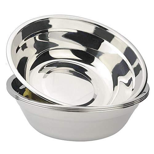 Morcte 18/10 Stainless Steel Metal Prep Bowl, 4-Pack Mixing Bowl
