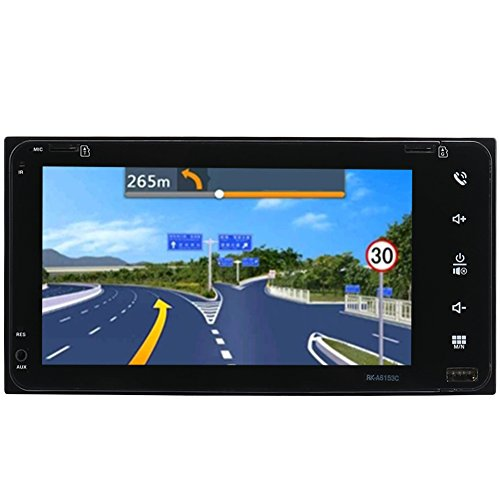 Car GPS Navigation System,7 Inch Double Ingot Android 6.0 Integrated Machine Hd Touch Mp5 with Europe Map