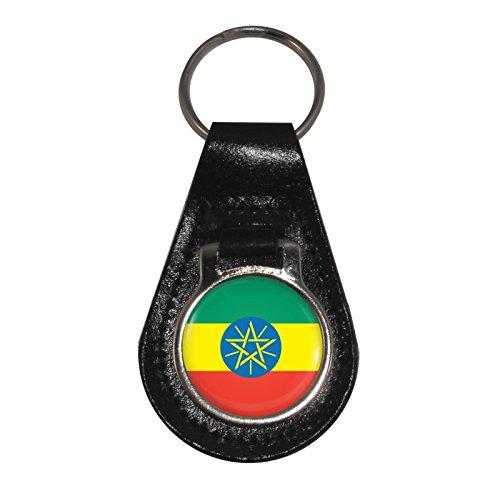 Cuir En 1stopshops clés Motif Éthiopie Drapeau Porte ZqZEHt