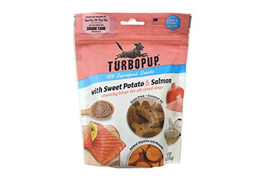 TurboPup by Fetch for Pets, K9 Superfood Snacks, Salmon & Sweet Potato Treats, 6 (Flavored Dog Treat Cookies)