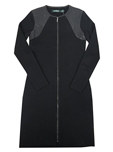 Zip Front Leather Dress - 6