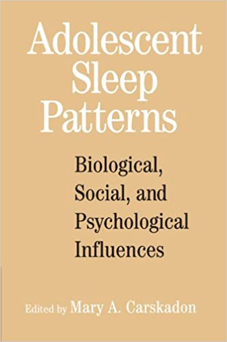 Adolescent Sleep Patterns Biological Social And Psychological Influences Reprint Edition