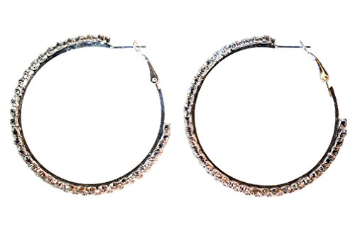 - IndigoEarrings Large Austrian Crystal Hoop Earrings - 2 sizes (2.25)