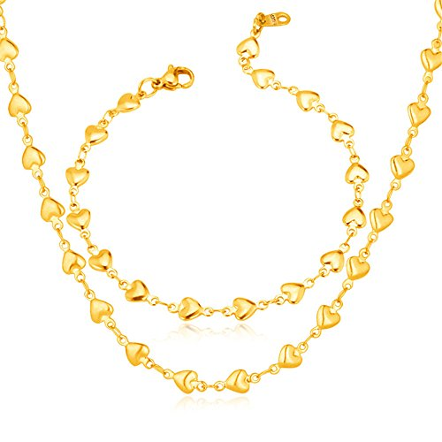 U7 Romantic 18K Gold Plated Chain Necklace (Gold) - 5