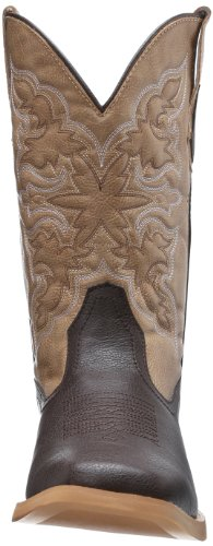Roper Mens Basic Punta Quadrata Western Boot Brown
