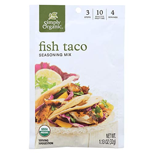 (Simply Organic Seasoning Mix - Fish Taco - Case of 12 - 1.13 oz.)