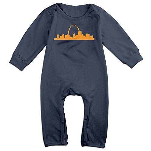 Baby Girls Long Sleeve Jumpsuit St Louis Arch Baby Rompers Navy