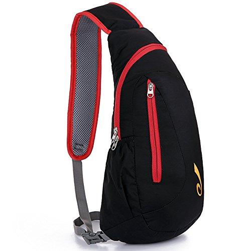 bolsa de para carcasa pecho deportes nylon ligera nuevo libre moda impermeable Etach dorado estilo en aire al el casual rojo xTXv8w0Wgq