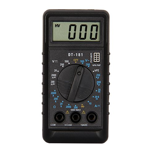 OLSUS DT181 LCD Handheld Digital Multimeter for Home and Car - Black + White by OLSUS (Image #1)