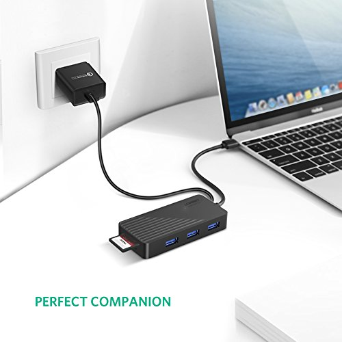 UGREEN USB Card Reader Hub 3 Ports USB 3.0 SD TF Card Adapter Hub Combo for MacBook Pro Air, Windows Surface Pro, iMac, PCs and Laptops Support Compact Flash Memory Cards Black by UGREEN (Image #5)
