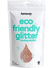 """Hemway Eco friendly Biodegradowalne Glitter 100g / 3,5 uncji Bio Cosmetic Bezpieczne Sparkle Vegan do twarzy, Eyeshadow, ciała, włosów, paznokci i makijażu, Craft Festival - 1/64"""" 0,015"""" 0.4mm - Złota Róża holograficzny"""