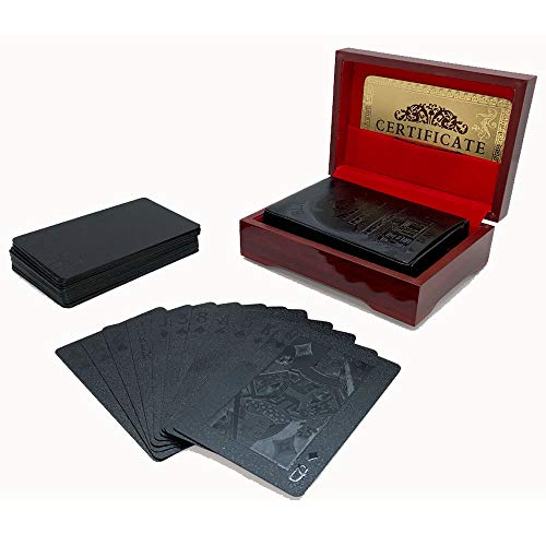 (Black Playing Cards with Case - Make Your Magic Tricks More Fun & Creative for Family & Friends)