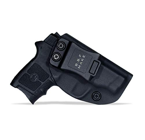 B.B.F Make IWB KYDEX Holster Fit: Smith & Wesson M&P Bodyguard 380 Auto Only | Retired Navy Owned Company | Inside Waistband | Adjustable Cant (Black, Right Hand Draw (IWB))