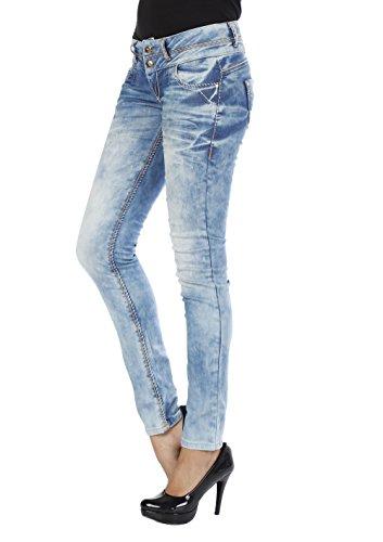 Cipo & Baxx Damen Jeans Hose slim fit, JEANS HELLBLAU, 30W / 32L