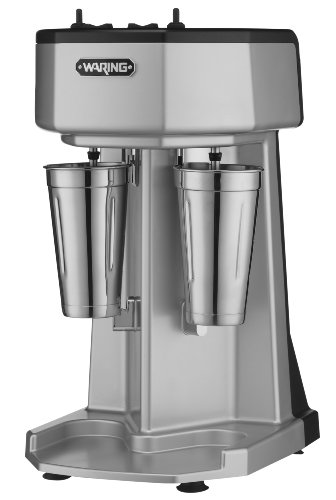 Waring Commercial WDM240 Heavy Duty Diecast Metal Double Spindle Drink Mixer by Waring