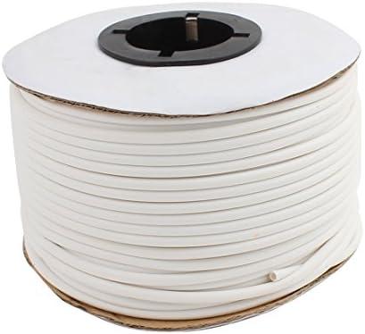 sourcing map PVC Organize Kabelmarker Installationskabel 1 Volumen 2,5 mm Innendurchm. Weiß