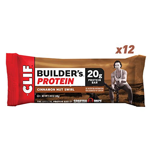 CLIF BUILDER'S - Protein Bars - Cinnamon Nut Swirl - (2.4 Ounce Bars, 12 Count)