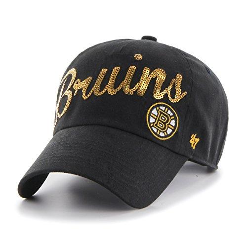 NHL Boston Bruins Women's Sparkle Script Clean Up Hat, Women's, Black