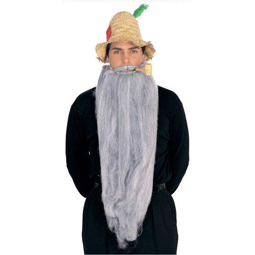 Rubie's Extra Long Beard and Moustache Set, Grey -