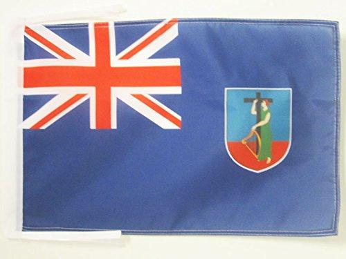 MONTSERRAT FLAG 18'' x 12'' cords - MONTSERRATIAN - ENGLISH SMALL FLAGS 30 x 45cm - BANNER 18x12 in - AZ FLAG
