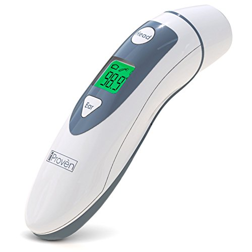 Medical Ear Thermometer with Forehead Function - iProven DMT-489 - Upgraded Infrared...