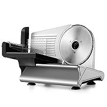 "Flexzion Electric Meat Slicer Machine 7.5"" Blade Home Deli Meat Cheese Bread Vegetable Salami Ham Food Motorized Slicer Cutter Premium For Home Use Kitchen Restaurant Deli"