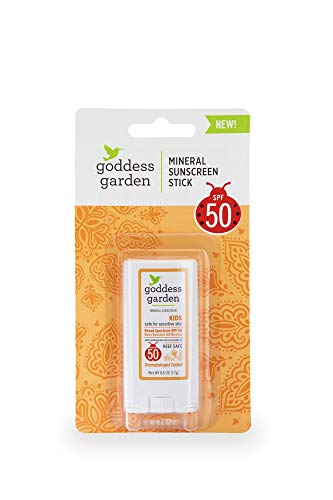 Goddess Garden Kids SPF 50 Mineral Sunscreen Stick for Sensitive Skin (0.6 oz.), Reef Safe, Clear Zinc Oxide, Broad Spectrum, Water Resistant, Non-Nano, Vegan, Leaping Bunny certified Cruelty-Free (Best Solar Pool Covers 2019)