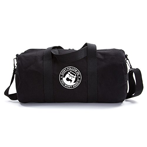 Jeep Don't Follow Me you Wont make it Heavyweight Canvas Duffel Bag in Black