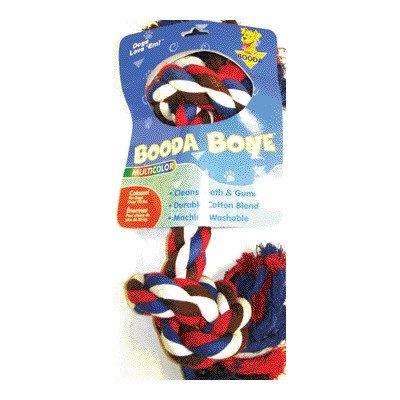Booda 2-Knot Rope Bone Multi-Color Colossal ()