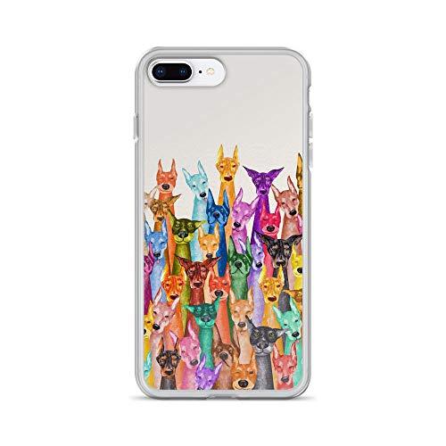Doberman Pinscher Tapestry - iPhone 7 Plus/8 Plus Pure Clear Case Cases Cover Doberman Pinscher Watercolor