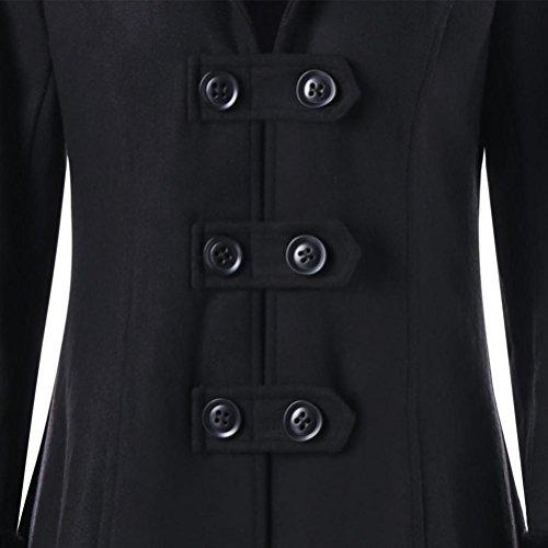 Noir Blouson a Tops Manteaux Noir Femme S Tops Casual Hiver Mode Chaud XXL SHOBDW 7BwUqx