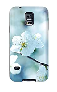 For AIYAYA Galaxy Protective Case, High Quality For Galaxy S5 Cherry Blossom Skin Case Cover