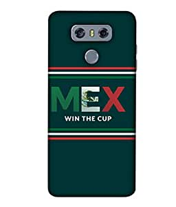 ColorKing Football Mexico 03 Green shell case cover for LG G6